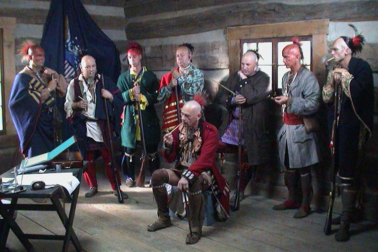 Chiefs Assemble At Fort Harmar For A Peace Treaty In 1789.