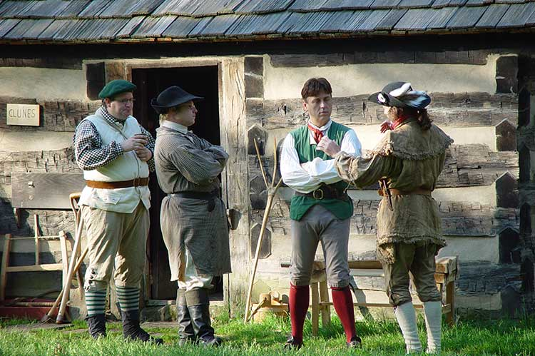 Many Settlers Had Been Officers During The American Revolutionary War.